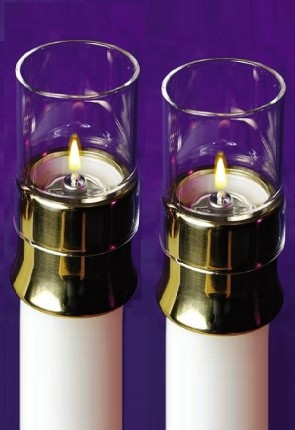 Lux Mundi Glass Draft Protector For Candle Shells