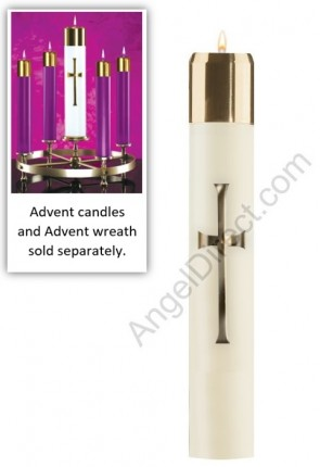 Lux Mundi Refillable Christ Candle