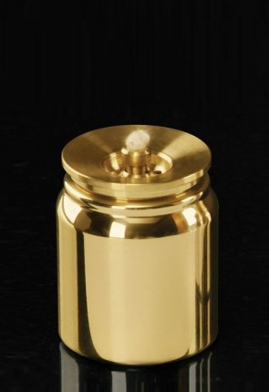 Lux Mundi Brass, Refillable Acolyte Canister