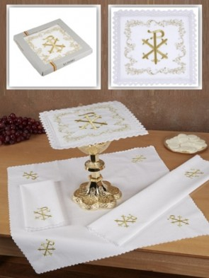 R.J. Toomey 100% Cotton Chi Rho Four-Piece Linen Set