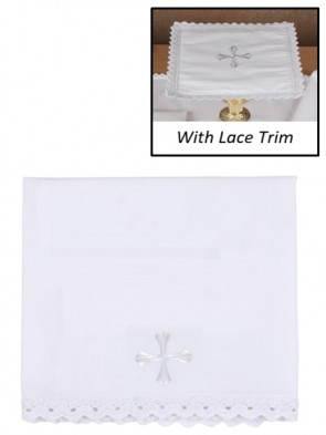 R.J. Toomey 100% Cotton Embroidered Cross with Lace Corporal - Pack of 4