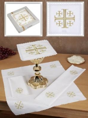 R.J. Toomey 100% Cotton Jerusalem Cross Four-Piece Linen Set