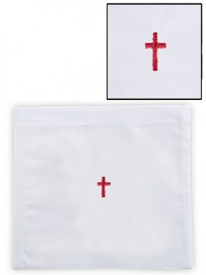 R.J. Toomey 100% Cotton Red Cross Chalice Pall with Insert - Pack of 12