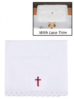 R.J. Toomey 100% Cotton Red Cross with Lace Corporal - Pack of 4