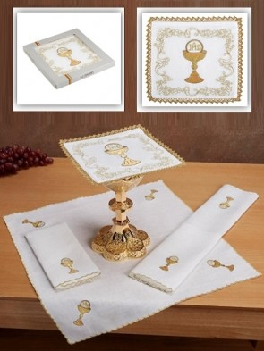 R.J. Toomey 100% Linen Chalice and Host Four-Piece Linen Set