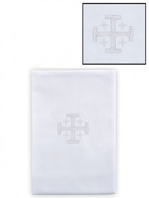 R.J. Toomey 100% Linen Jerusalem Cross Lavabo Towel - Pack of 4