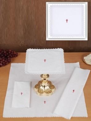 R.J. Toomey 100% Linen Red Cross Four-Piece Linen Set