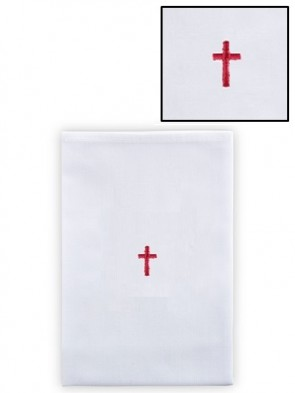 R.J. Toomey 100% Linen Red Cross Lavabo Towel - Pack of 12