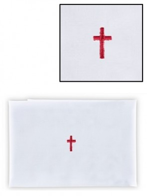 R.J. Toomey 100% Linen Red Cross Purificator - Pack of 12