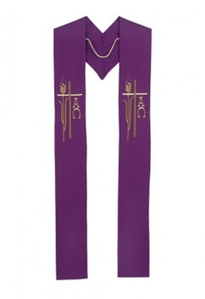 R.J. Toomey Alpha Omega Collection Purple Overlay Stole