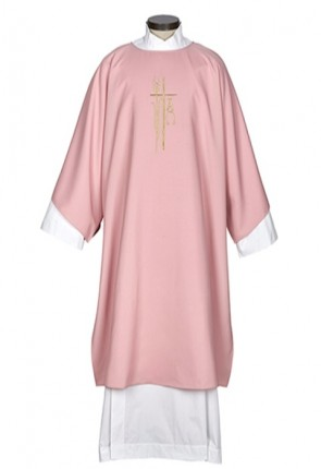 R.J. Toomey Alpha Omega Collection Rose Dalmatic with Inner Stole