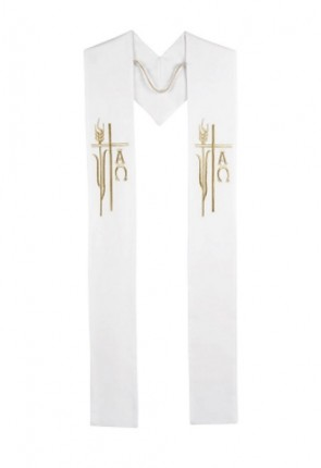 R.J. Toomey Alpha Omega Collection White Overlay Stole