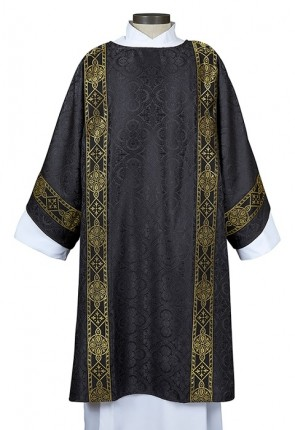 R.J. Toomey Avignon Collection Black Dalmatic with Inner Stole
