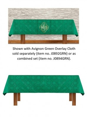 R.J. Toomey Avignon Collection Green Altar Frontal