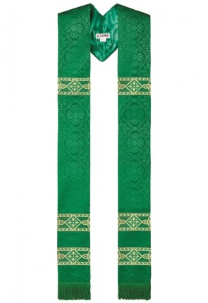 R.J. Toomey Avignon Collection Green Overlay Stole
