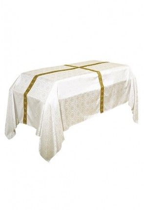 R.J. Toomey Avignon Collection Ivory, 6'W X 10'L Funeral Pall