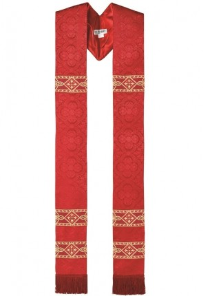 R.J. Toomey Avignon Collection Red Overlay Stole