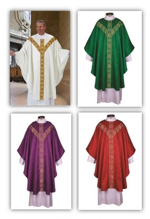 R.J. Toomey Avignon Collection Set Of Four Semi-Gothic Chasubles With Inner Stoles