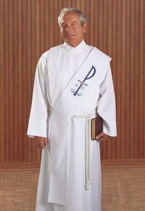 R.J. Toomey Baptismal White Deacon Stole