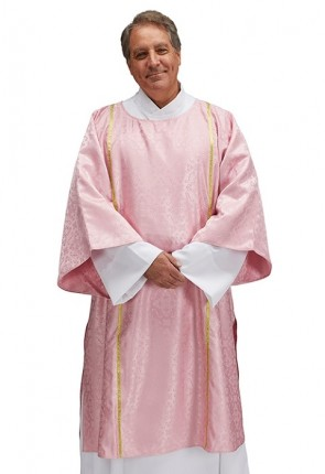 R.J. Toomey Classic Jacquard Collection Rose Dalmatic with Inner Stole