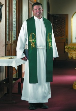 R.J. Toomey Eucharistic Collection Green Overlay Stole