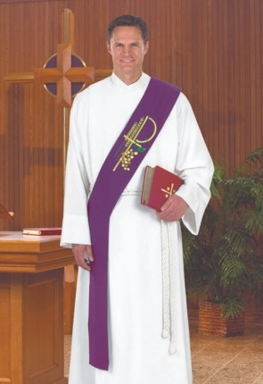 R.J. Toomey Eucharistic Collection Purple Deacon Stole