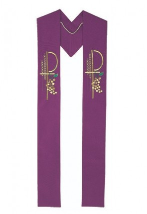 R.J. Toomey Eucharistic Collection Purple Overlay Stole