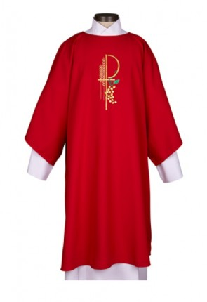 R.J. Toomey Eucharistic Collection Red Dalmatic With Inner Stole