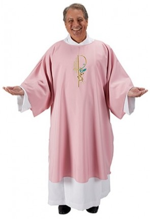 R.J. Toomey Eucharistic Collection Rose Dalmatic with Inner Stole