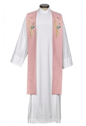 R.J. Toomey Eucharistic Collection Rose Overlay Stole