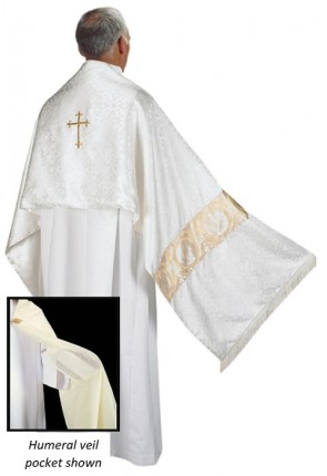 R.J. Toomey Gold Medallion Collection White, Fully-Lined Humeral Veil