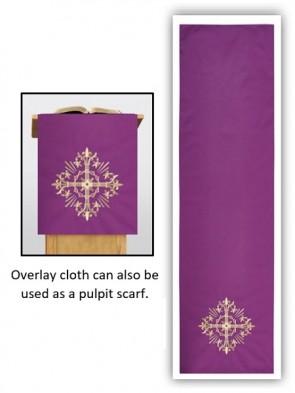 R.J. Toomey Holy Trinity Collection Purple Overlay Cloth