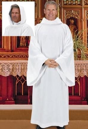R.J. Toomey Hooded Monastic Alb
