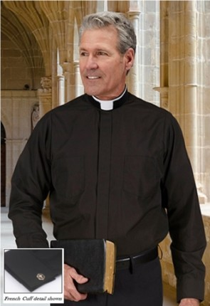 "R.J. Toomey ""Milano Comfort"" Long-Sleeve, Roman-Style Collar Clergy Shirt"