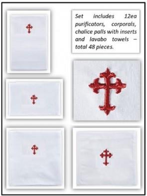 R.J. Toomey Polyester/Cotton Fleur-de-Lis Linen Set - Pack of 48 Linens