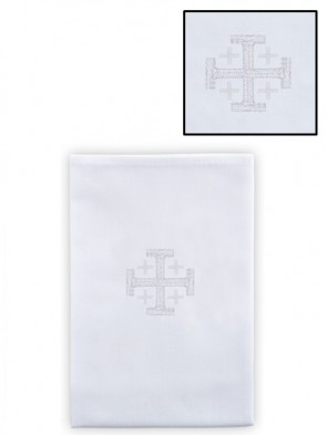 R.J. Toomey Polyester/Cotton Jerusalem Cross Lavabo Towel - Pack of 4