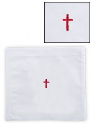 R.J. Toomey Polyester/Cotton Red Cross Chalice Pall with Insert - Pack of 12
