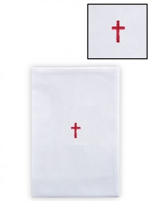 R.J. Toomey Polyester/Cotton Red Cross Lavabo Towel - Pack of 12