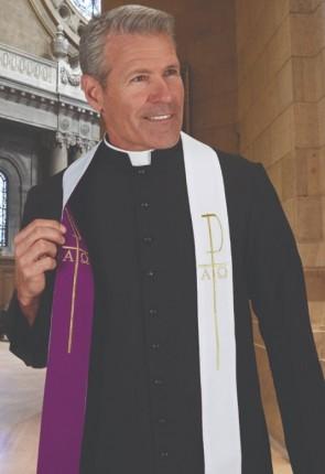 R.J. Toomey Portable Purple/White Reversible Overlay Stole
