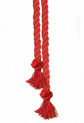 "R.J. Toomey Red 90""L Cord Knot Cincture For Servers"