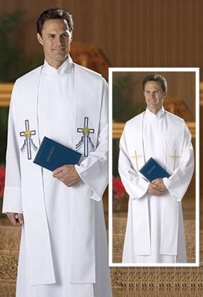 R.J. Toomey Reversible Baptismal And Wedding White Overlay Stole