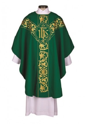 R.J. Toomey Roma Collection Green Chasuble With Inner Stole