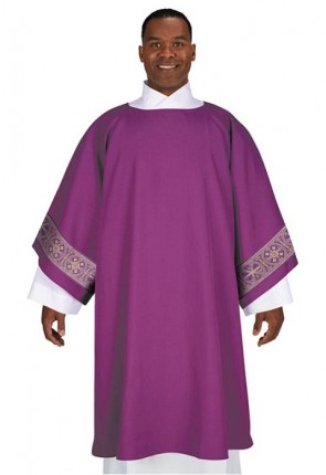 R.J. Toomey San Damiano Collection Purple Dalmatic with Inner Stole
