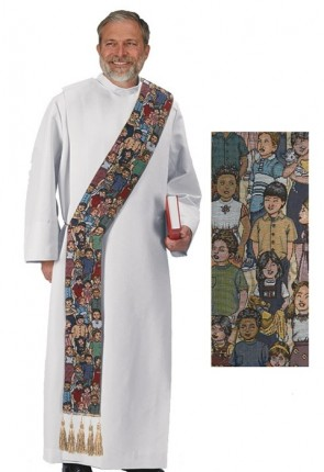 R.J. Toomey Children Of The World Collection Multi-Colored Deacon Stole