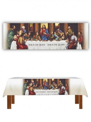 R.J. Toomey The Last Supper White Altar Frontal