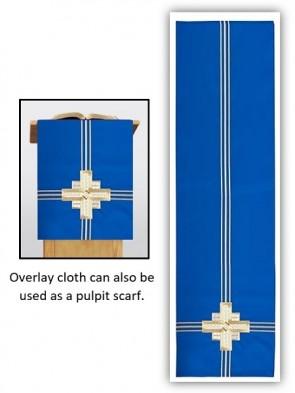 R.J. Toomey Trinity Cross Collection Blue Overlay Cloth