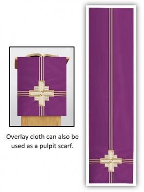 R.J. Toomey Trinity Cross Collection Purple Overlay Cloth
