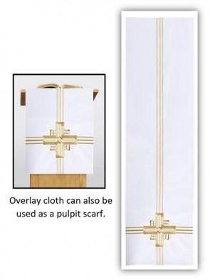 R.J. Toomey Trinity Cross Collection White Overlay Cloth