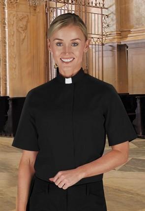 "R.J. Toomey ""Women's Classic"" Short-Sleeve, Tab Collar Clergy Shirt"