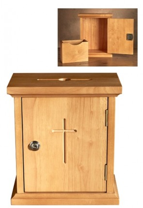 "Robert Smith 11""H Hardwood Offering Box"